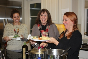 Susan Lustenberger serves up PeaceMeal to Gilead House director Jacque McLaughlin