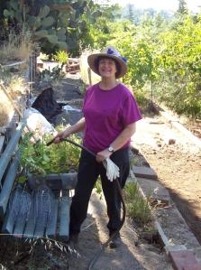 Susan_Miller waters_plants_in_San_Anselmo[1]
