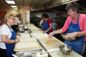 Baklava baking