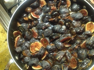Figs on stove