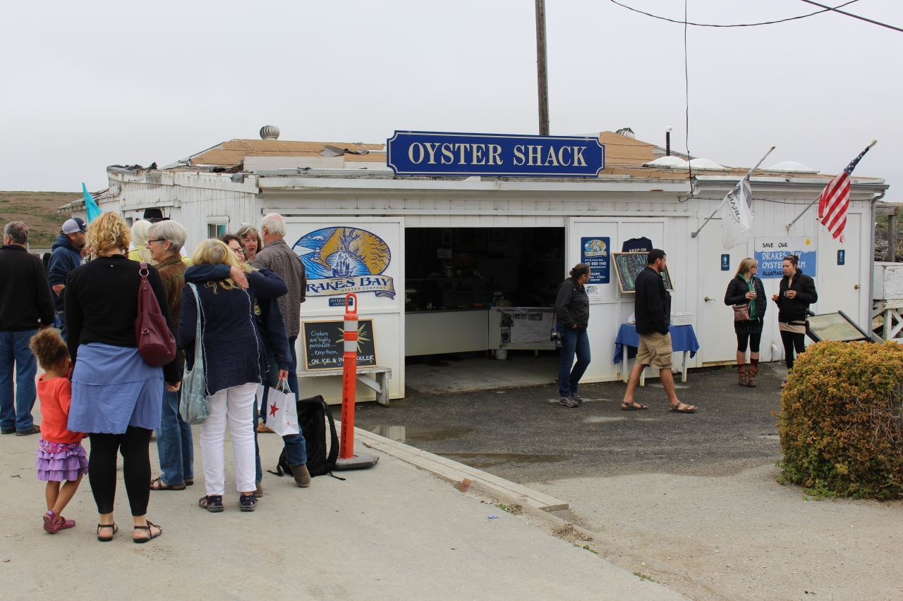 Supporters consoled each other in front of the company's Oyster Shack
