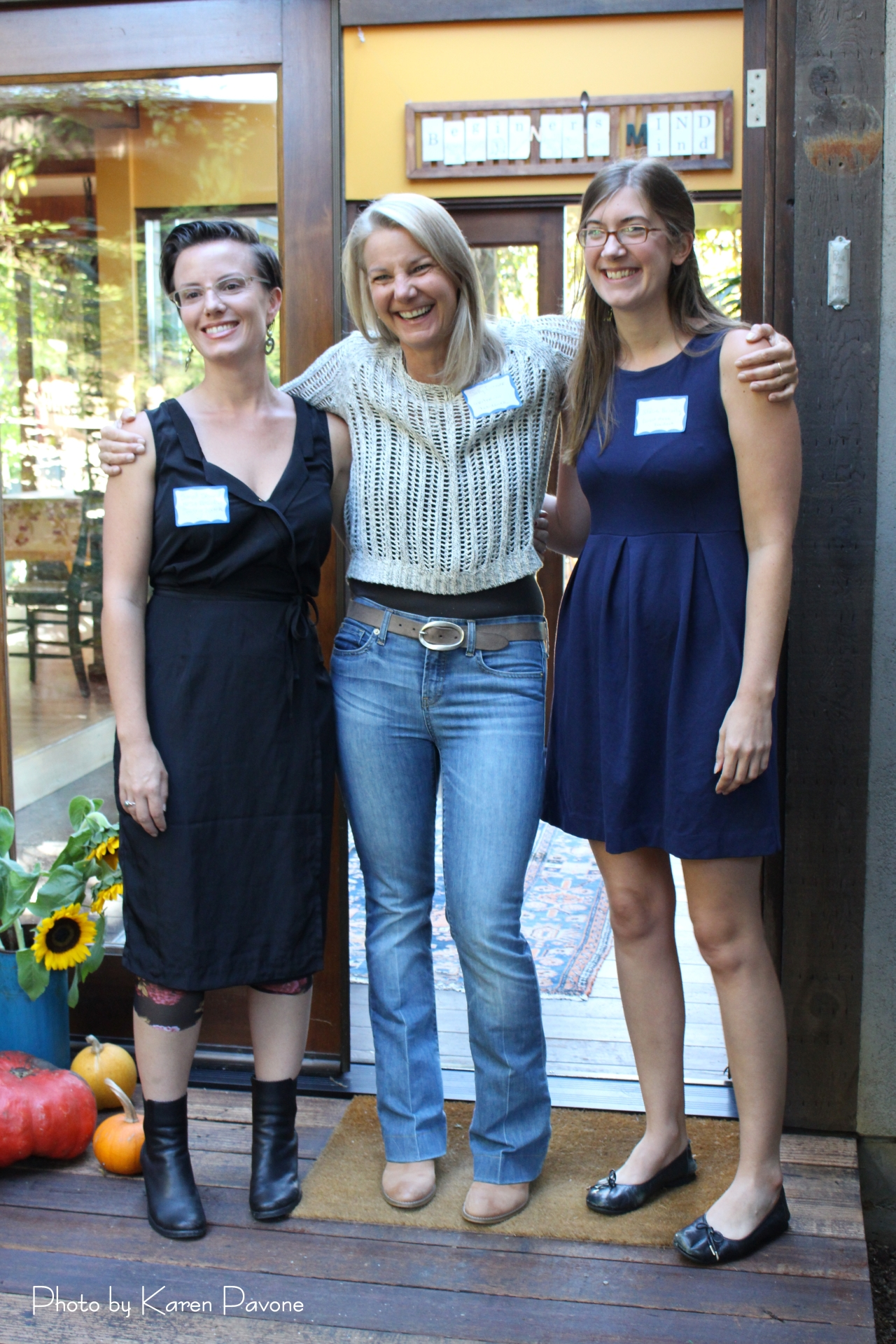 Writers in Residence (left to right) Sarah Shourd, Sally Bolger, and Blaire Briody