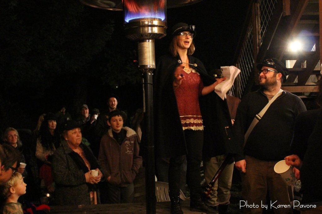 Wassail Queen Jolie & King Hunter call for the revelry to begin
