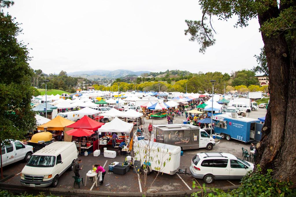 Sunday's Marin Civic Center Farmers Market is the 3rd largest in California