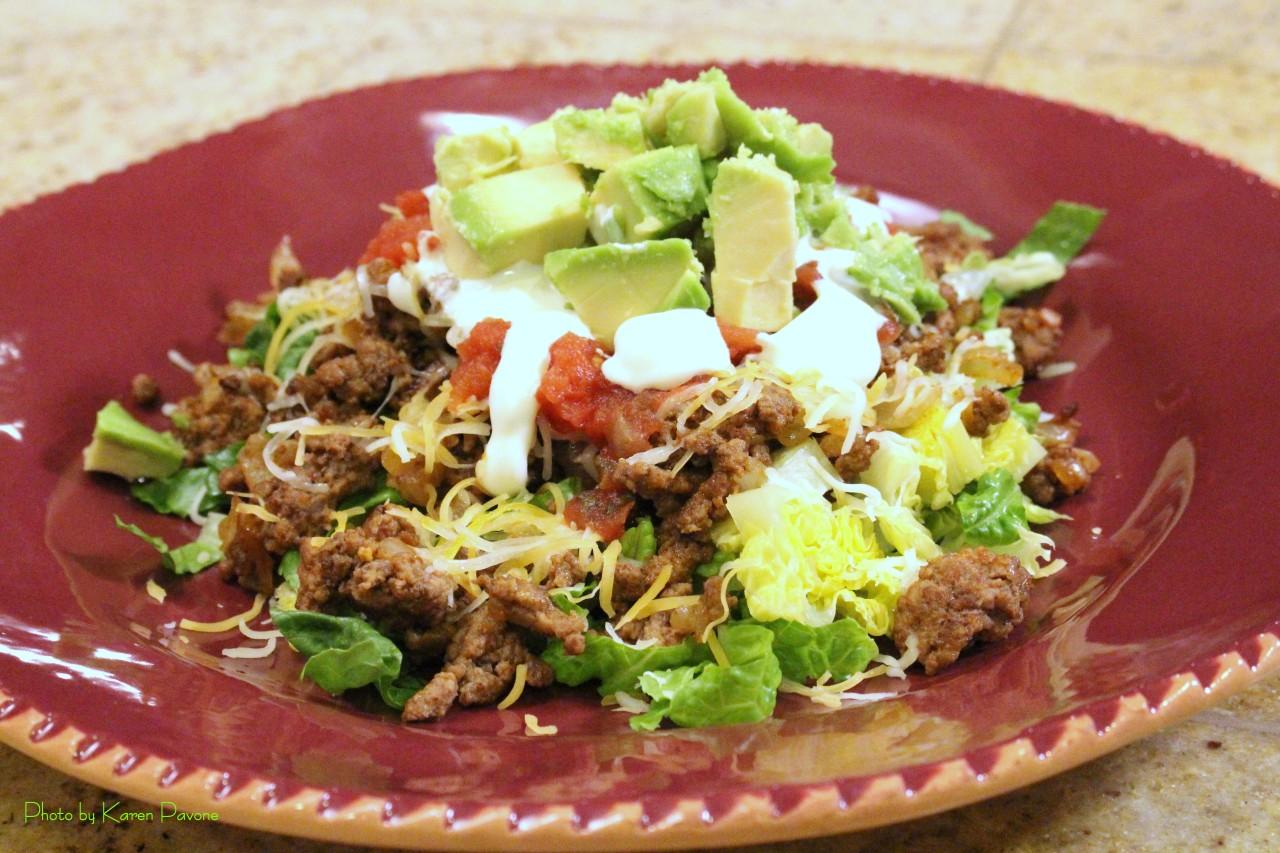Celebrating Cinco de Mayo: Ground Beef TacoSalad