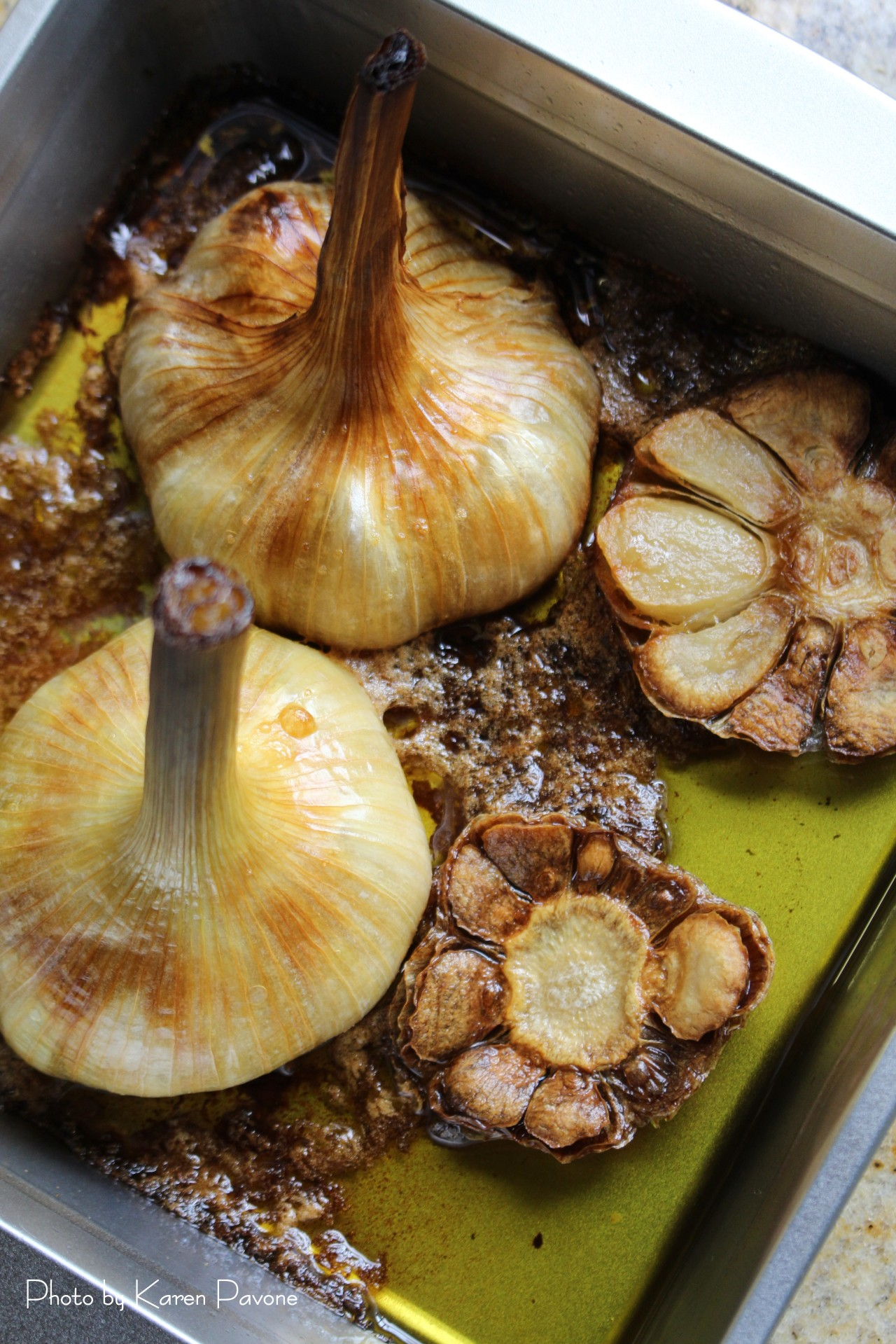 Oven-Roasted Spring Garlic