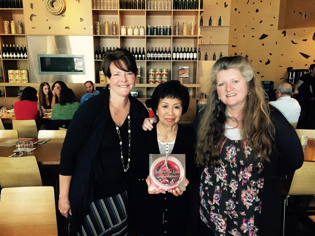 (L to R) Editor/photographer Karen Pavone, Author Jeannette Habit, Publisher Gaye Allen