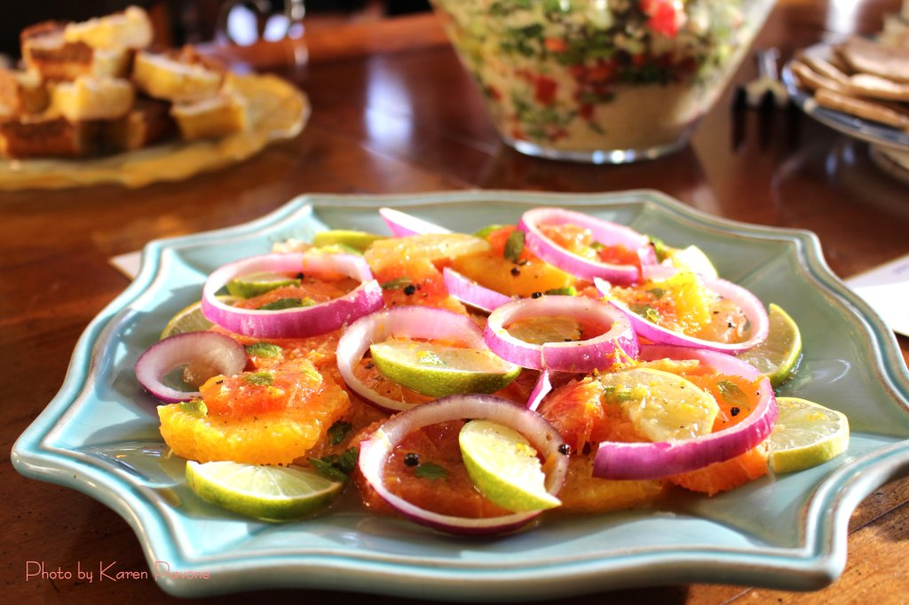 Citrus Salad with Mint & Red Onions