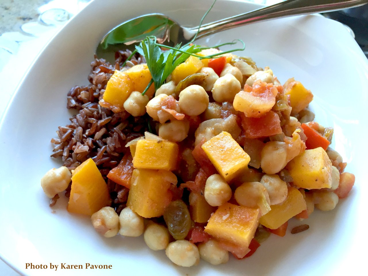IN SEASON: Roasted Butternut Squash Stew with Moroccan Spices