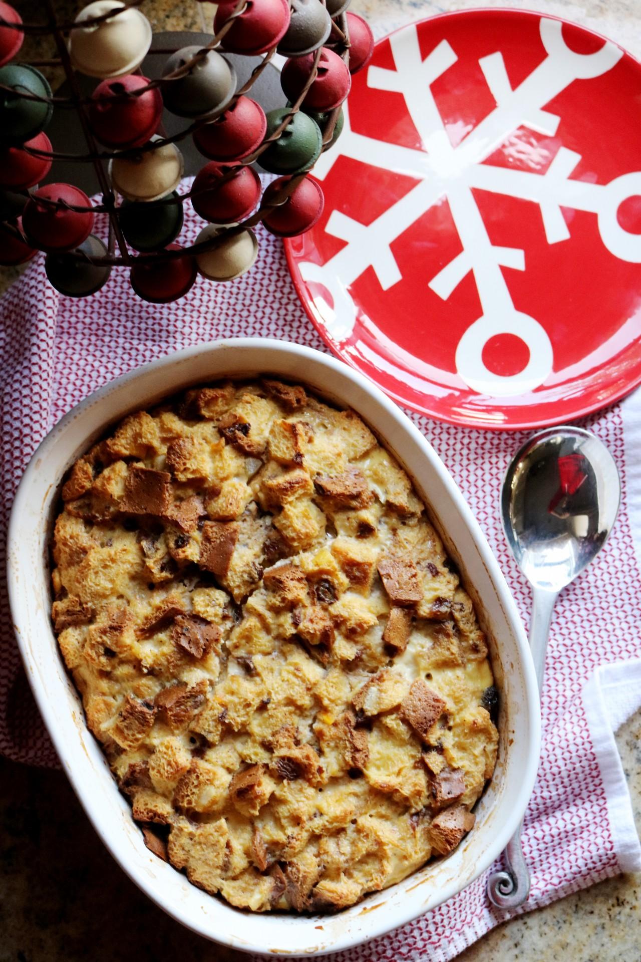 New Year's Panettone-Eggnog Overnight French ToastCasserole