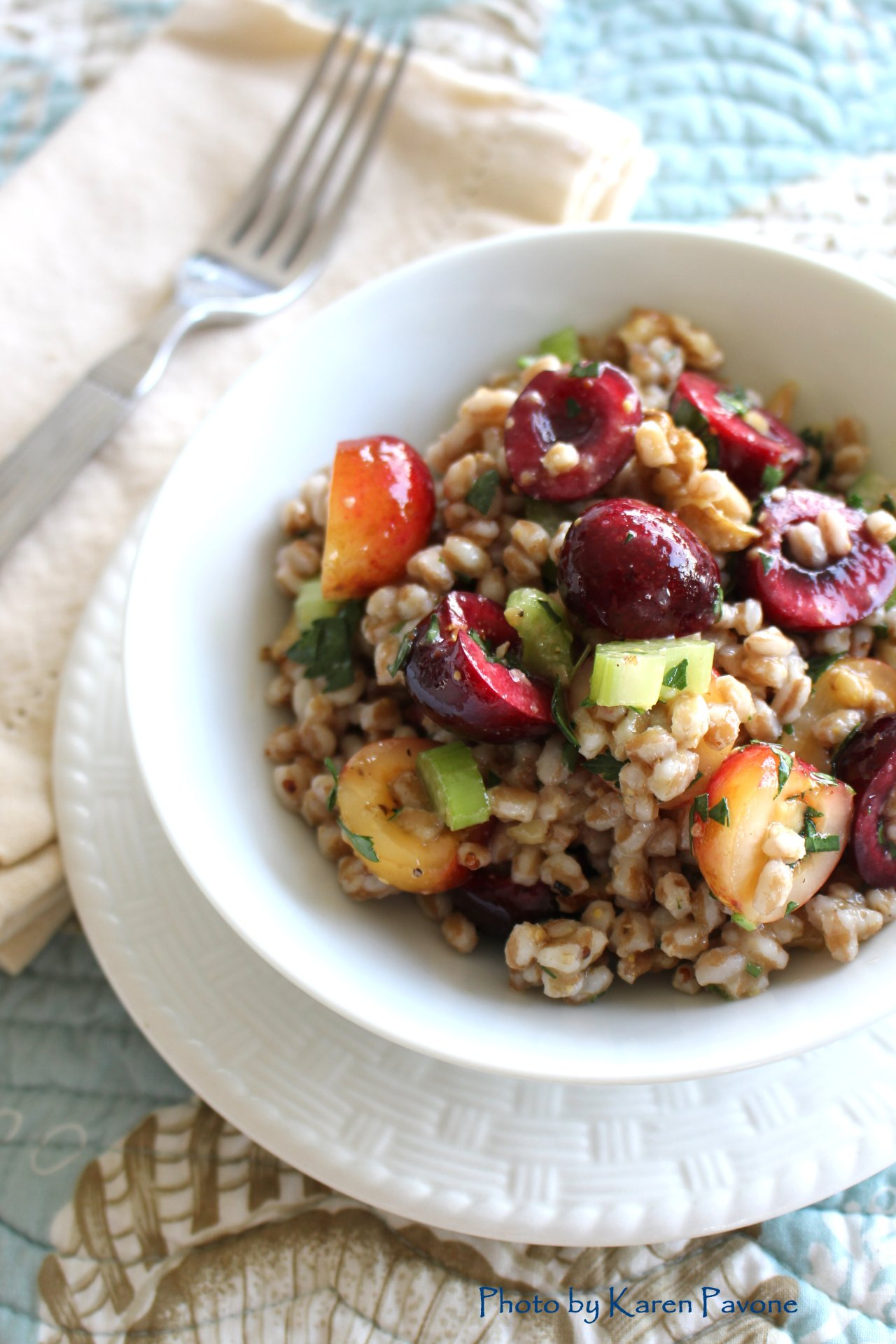 In Season: Farro, Cherry, & Walnut Salad