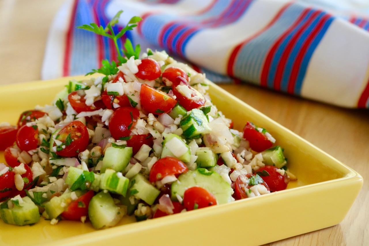Greek Cauliflower RiceSalad