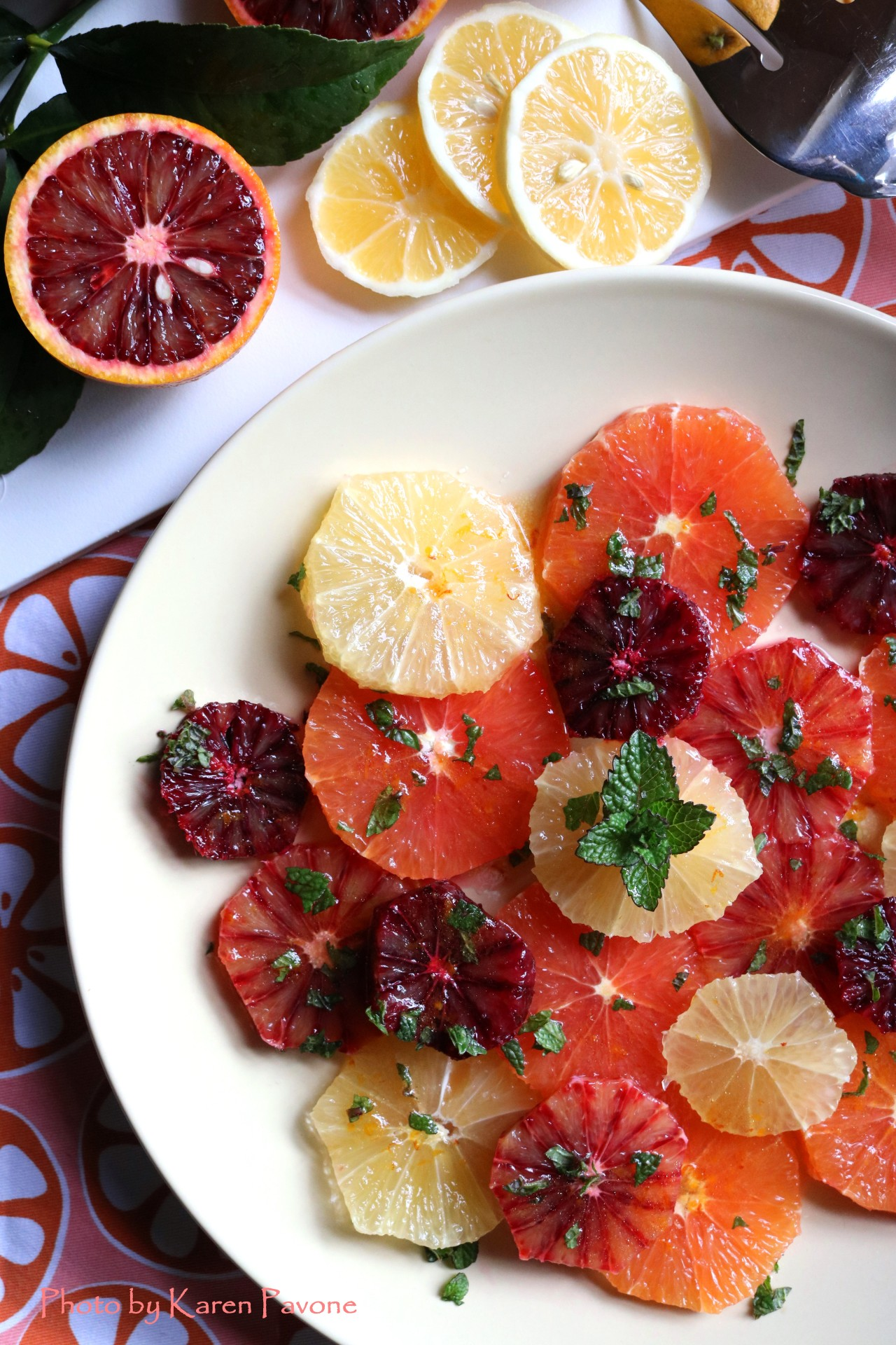 In Season: Winter Citrus Salad with fresh mint