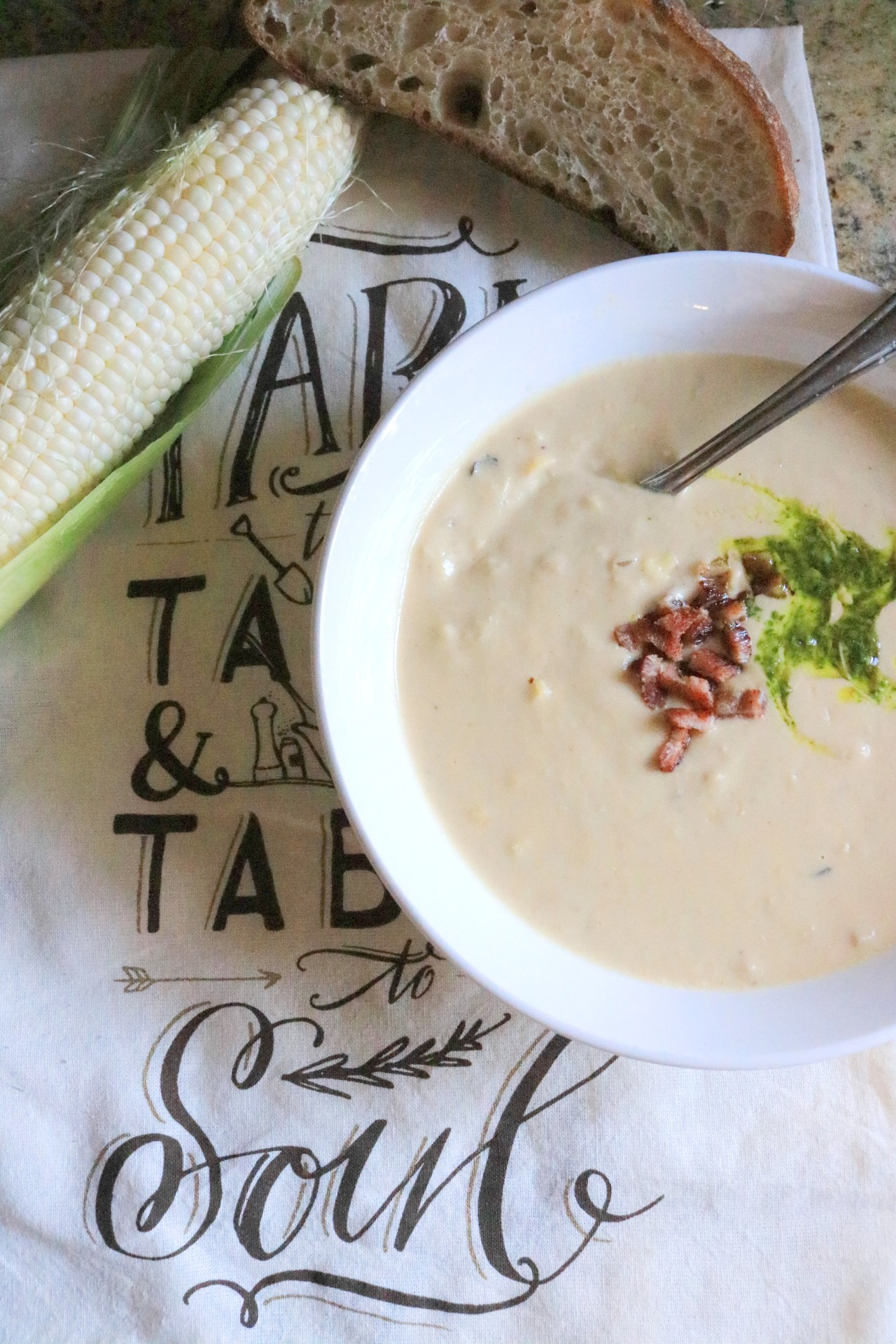In Season: Sweet Corn Chowder with Smoked Gouda