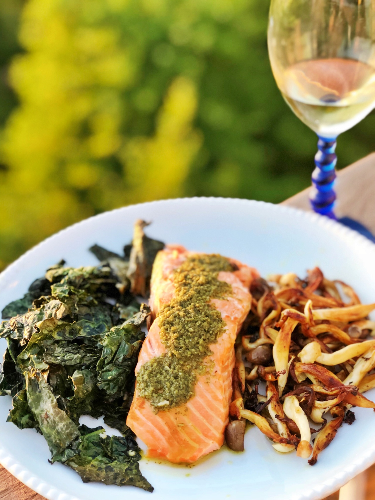 Solstice Salmon with Mint-Herb Chimichurri